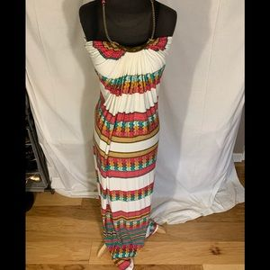 Sky halter/ maxi dress. Size large
